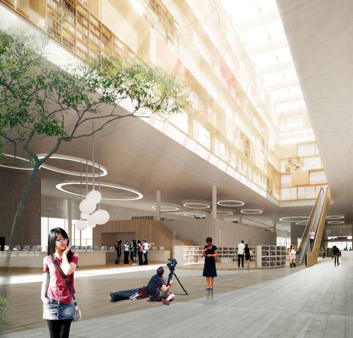 schmidt hammer lassen architects wins library competition in China