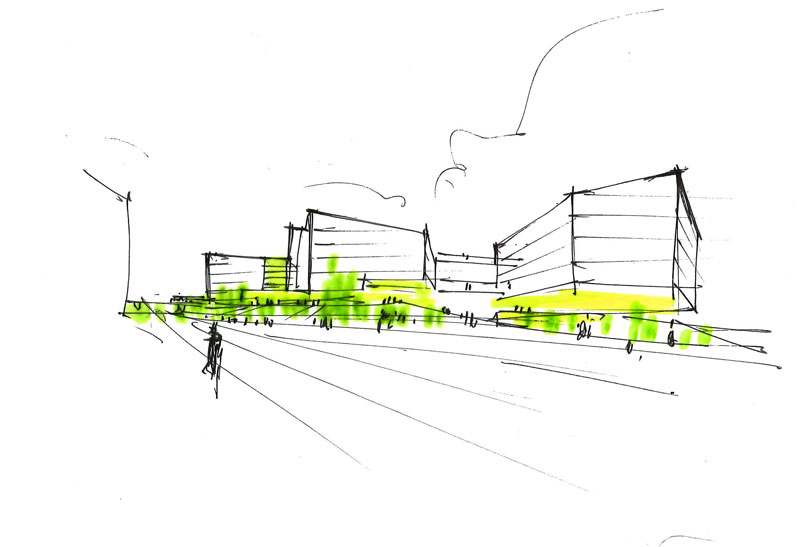 Nordea Bank by Henning Larsen Architects - Sketch