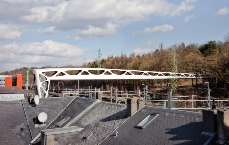 Pedestrian Bridge in Esch by Metaform Architecture