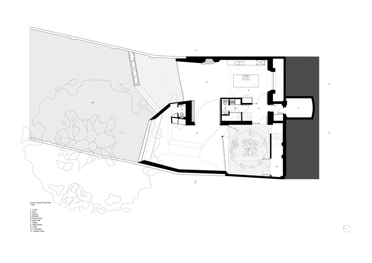 Alison Brooks Architects - Lens House Lower Ground Floor Plan