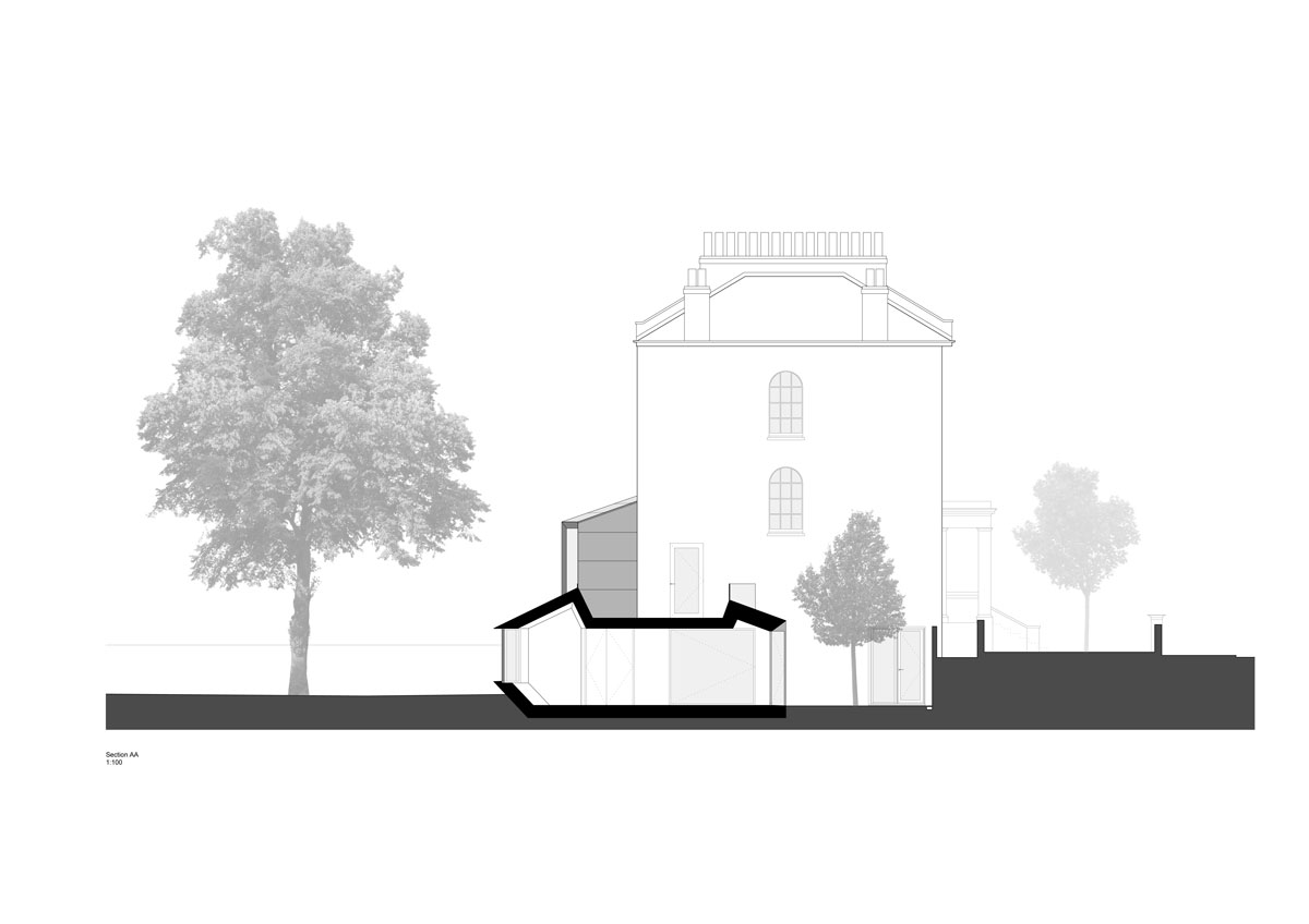 Alison Brooks Architects - Lens House Section AA