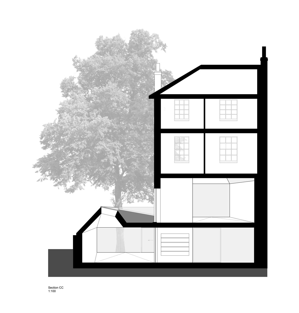 Alison Brooks Architects - Lens House Section CC