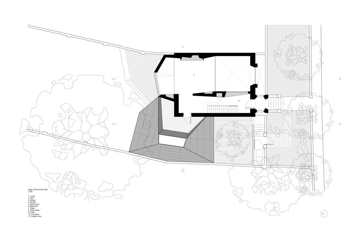 Alison Brooks Architects - Lens House Upper Ground Floor Plan