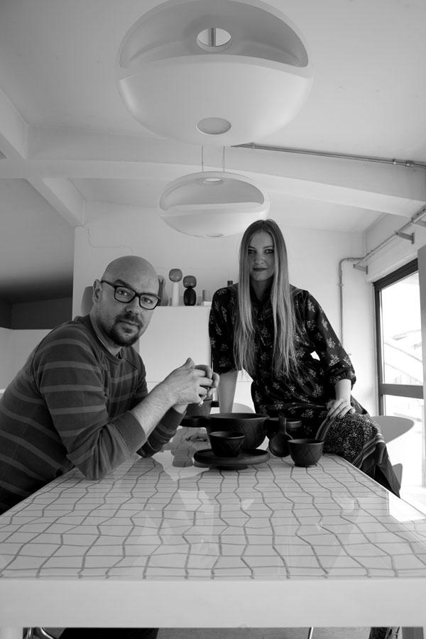 Designers Luca Nichetto and Lera Moiseeva