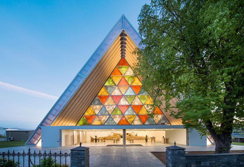Shigeru Ban - Cardboard Cathedral, 2013, Christchurch, New Zealand