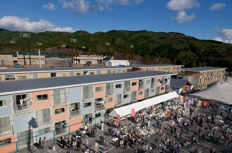 Shigeru Ban - Container Temporary Housing, 2011, Onagawa, Miyagi, Japan