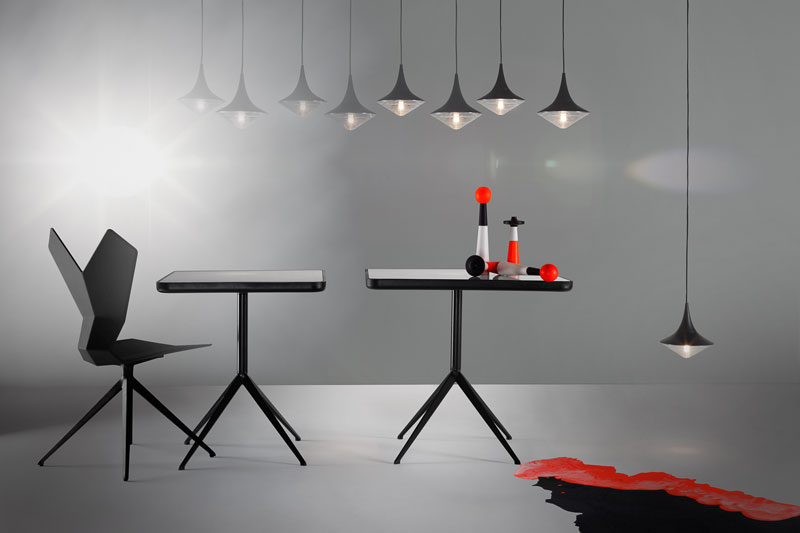 Tom Dixon Presents CLUB at Milan Design Week 2014 - FLOOD Pendant Lights & Y TABLE