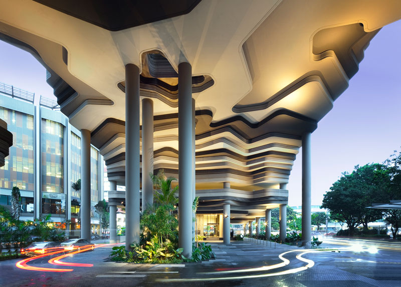 PARKROYAL on Pickering by WOHA - Hotel porte-cochere