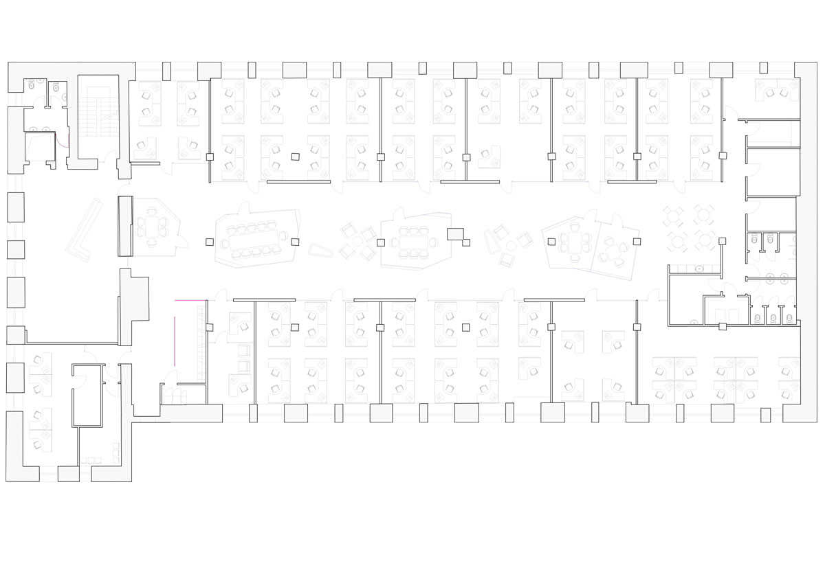 Yandex Stroganov Office in Moscow by za bor architects - 3rd Floor