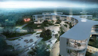 New North Zealand Hospital by C.F. Møller - Aerial View