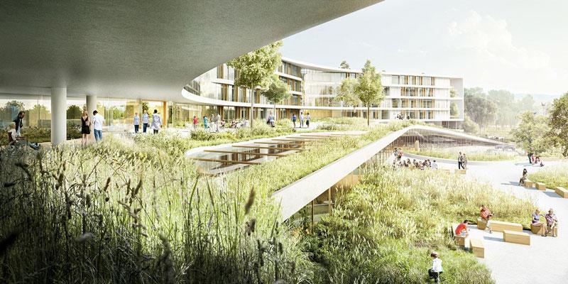 New North Zealand Hospital by C.F. Møller - Green Promenade