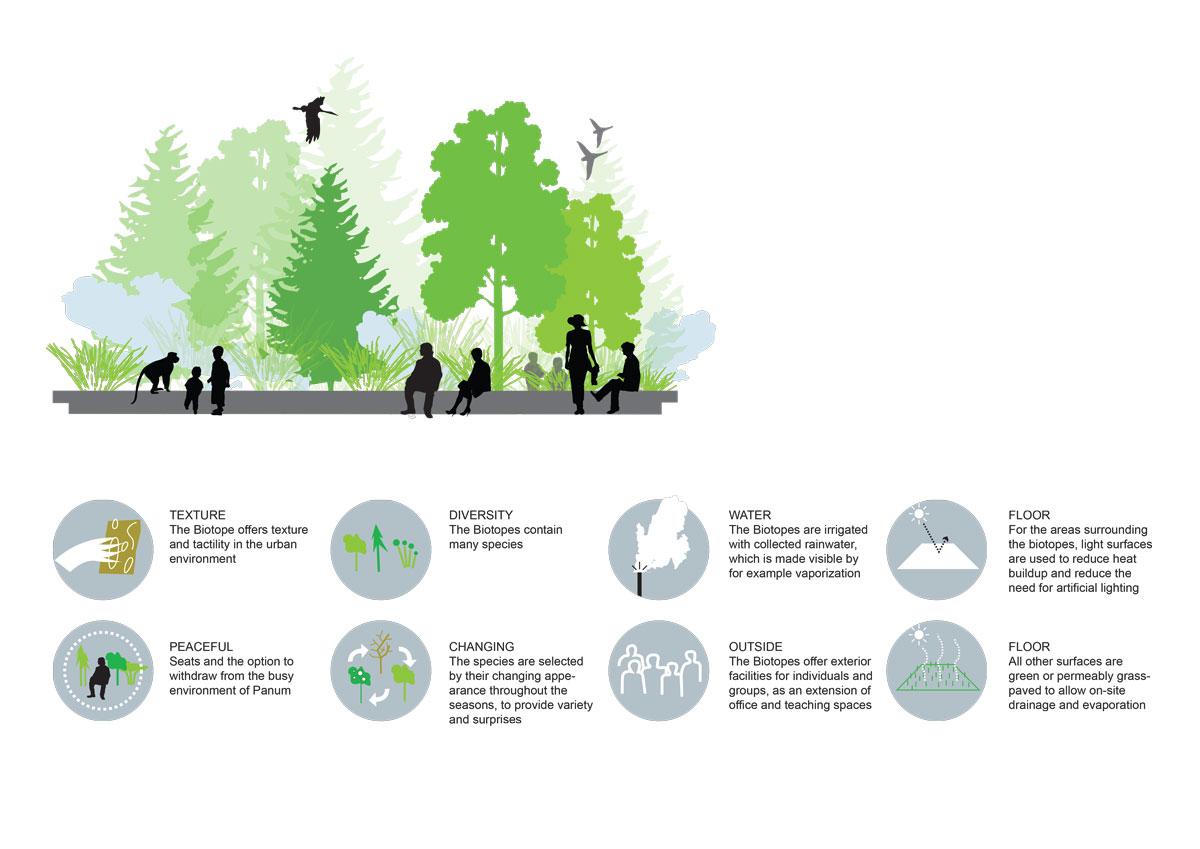 MAERSK BUILDING Landscape Diagram Biotopes
