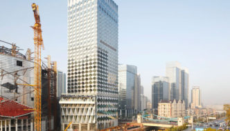 Wanda Reign Hotel Facade by Make Architects