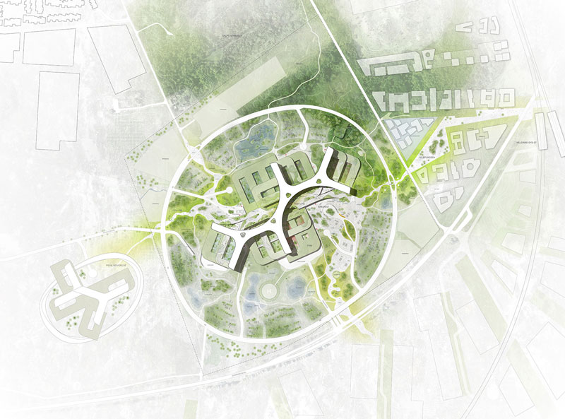 New North Zealand Hospital by C.F. Møller - Siteplan
