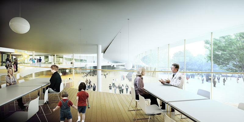 New North Zealand Hospital by C.F. Møller - Upper Lobby Level
