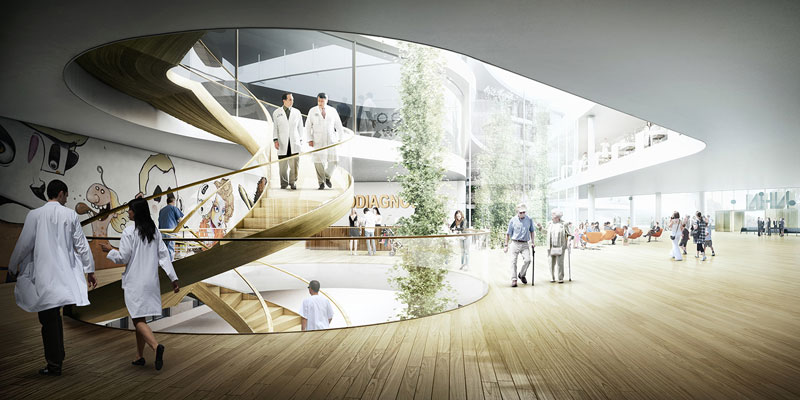 New North Zealand Hospital by C.F. Møller - Vertical Connections