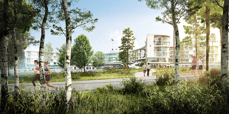 New North Zealand Hospital by C.F. Møller - Woodlands View