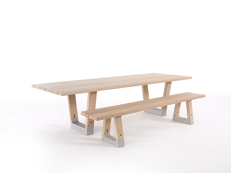 Base Table and Base Bench by Jorre van Ast for Arco - Local Wood Collection