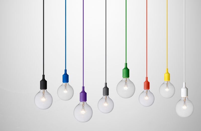 Muuto adds new colours to the E27 Pendant Family