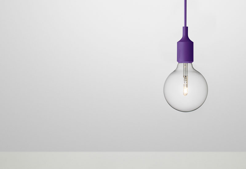 E27 Pendant by Mattias Ståhlbom for Muuto - purple