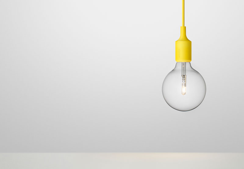 E27 Pendant by Mattias Ståhlbom for Muuto - yellow