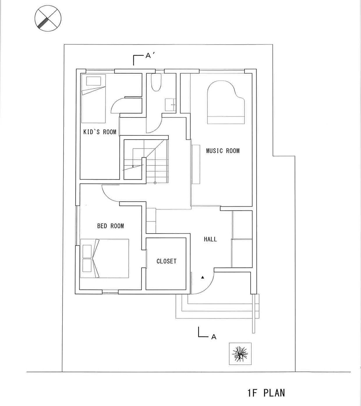 Teneful House by FORM/Kouichi Kimura Architects - 1st Floor Plan