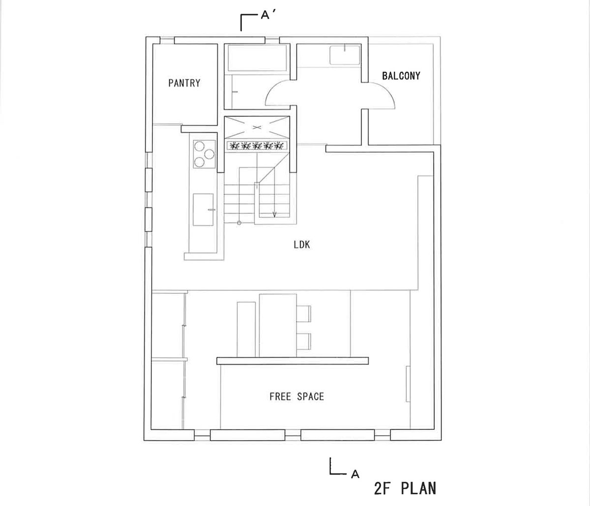 Teneful House by FORM/Kouichi Kimura Architects - 2nd Floor Plan