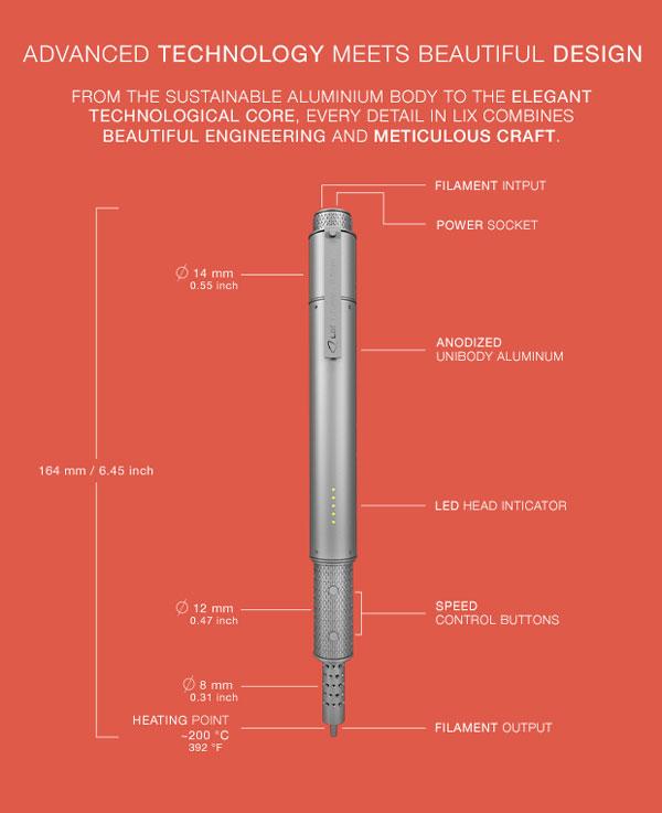 LIX 3D - World's smallest 3D Pen lets you doodle in the air