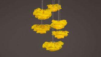 Nevo Pendant Lamp by Arturo Álvarez - Yellow