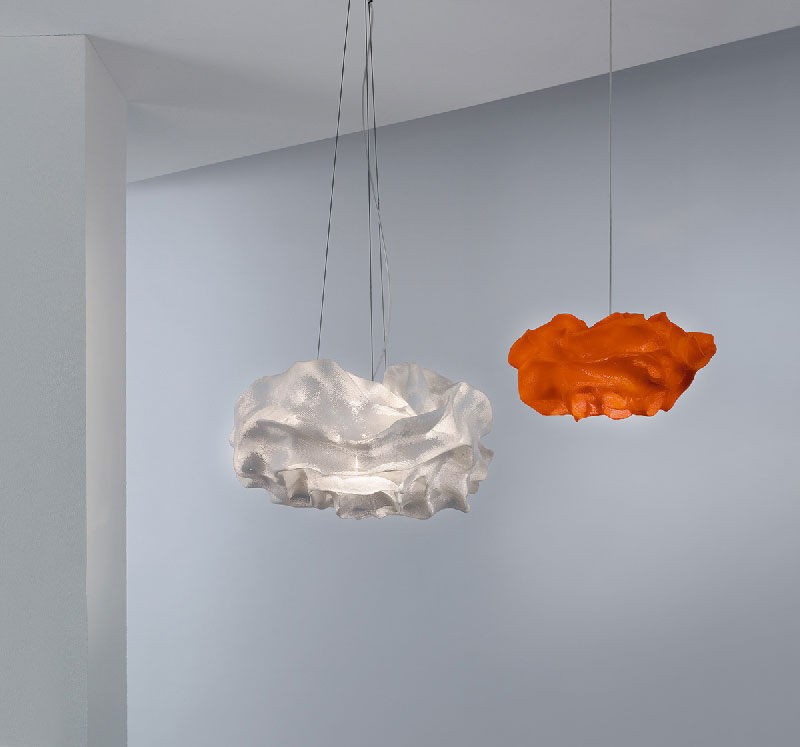 Nevo Pendant Lamp by Arturo Álvarez - Orange and white