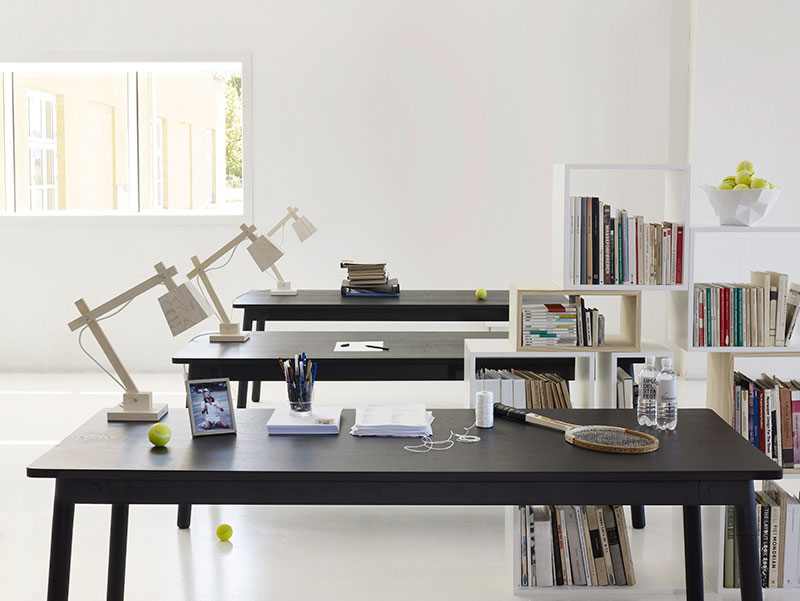 Working Space featuring Interior featuring Stacked Shelving by JDS Architects for Muuto