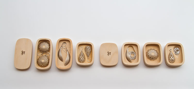 Adorn Jewellery in bamboo boxes by David Trubridge