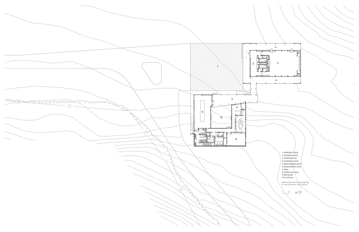 Won Dharma Center by hanrahan Meyers architects - meditation admin