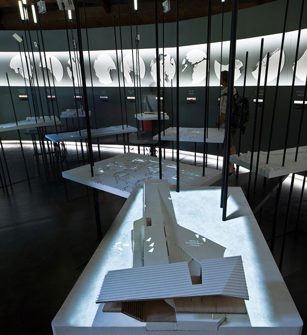 View of animated model showing cultural centre proposal for Iqaluit, Arctic Adaptations; 2014