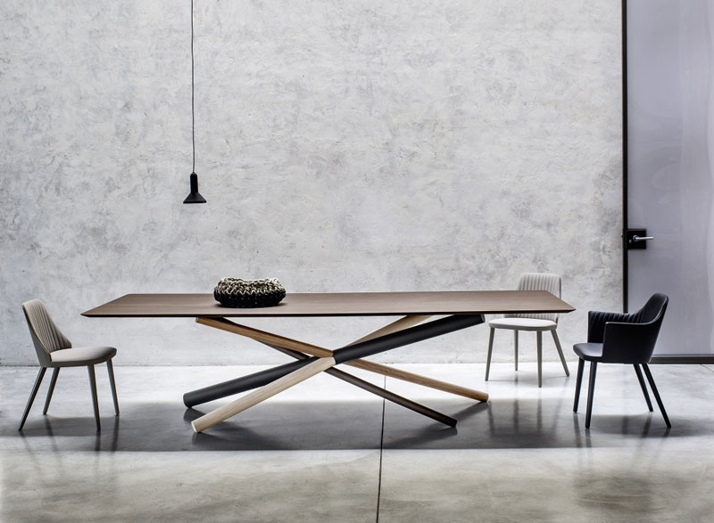 W Table by Luciano Marson for Bross