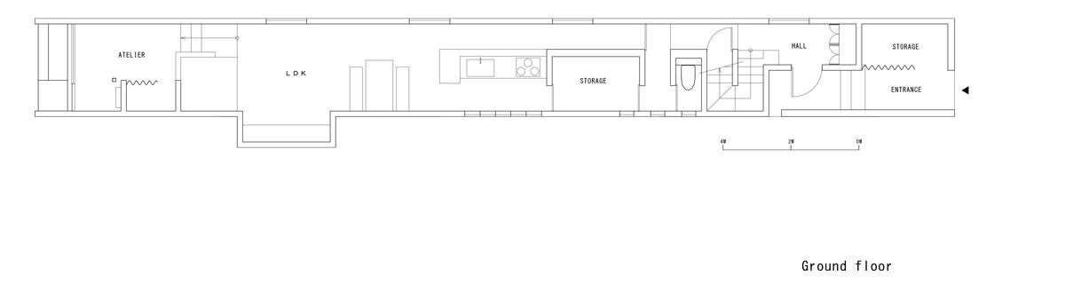 Promenade House by FORM/Kouichi Kimura Architects - Ground Plan