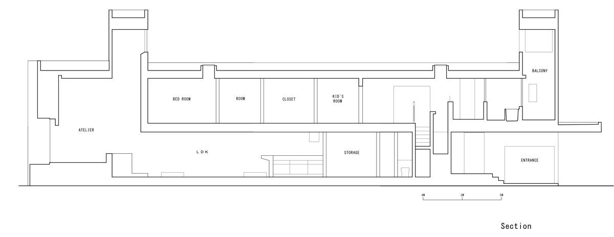 Promenade House by FORM/Kouichi Kimura Architects - Section