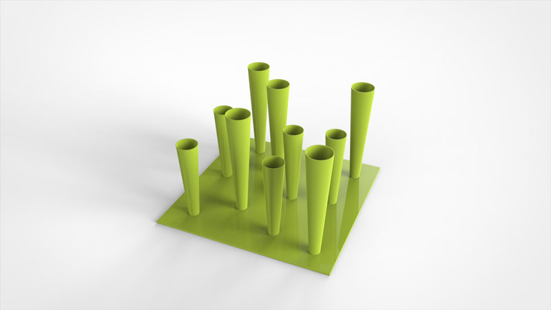 Flut Umbrella Stand by Gianluca Minchillo for Progetti