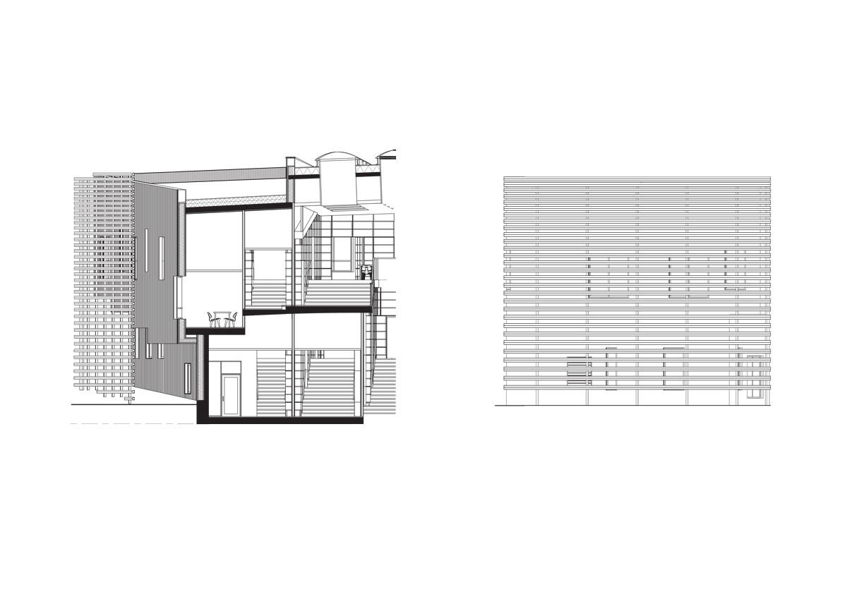Dalarna University Media Library by ADEPT - Facade detail