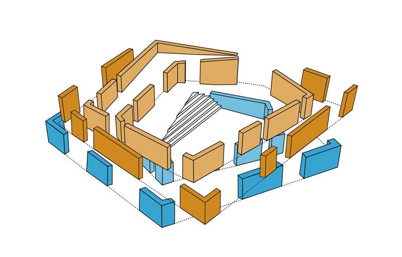 Dalarna University Media Library by ADEPT - walls diagrams