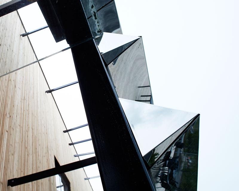 Dalarna University Media Library by ADEPT - Triangular facade