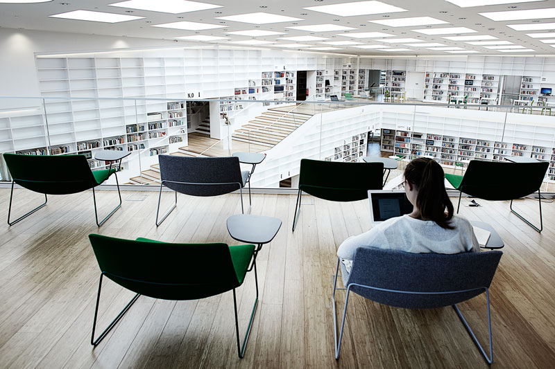 Dalarna University Media Library by ADEPT - Arena, individual study place