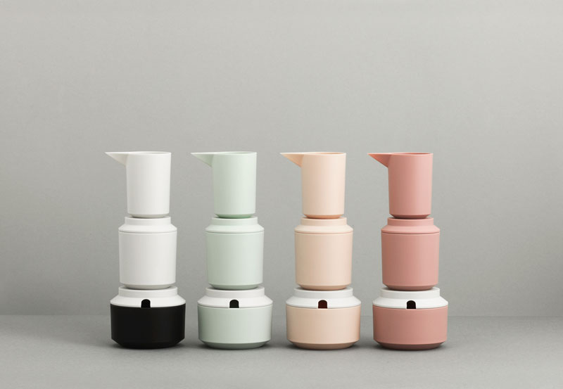 Geo Milk and Sugar Jugs by Normann Copenhagen