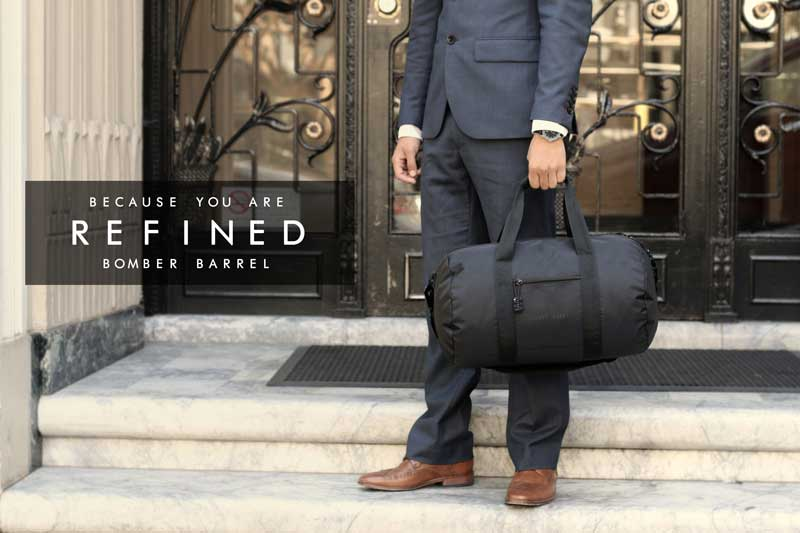 Bomber Barrel Duffel Bag - Because you are a refined business man