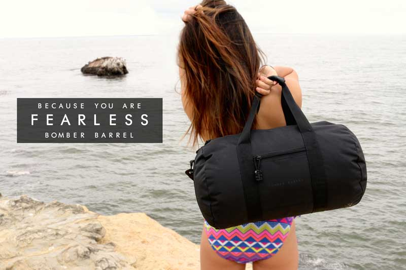 Bomber Barrel Duffel Bag - Because you are fearless