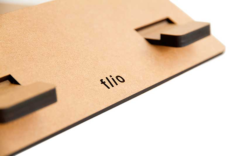 Vlad Butucariu reveals FLIO - an ultra slim wooden laptop stand