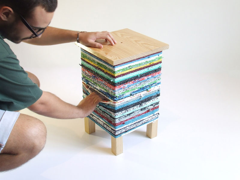CROKÉ corner table by Hugo Ribeiro