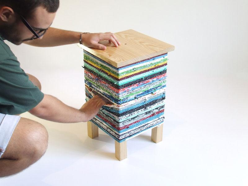 CROKÉ corner table by Hugo Ribeiro