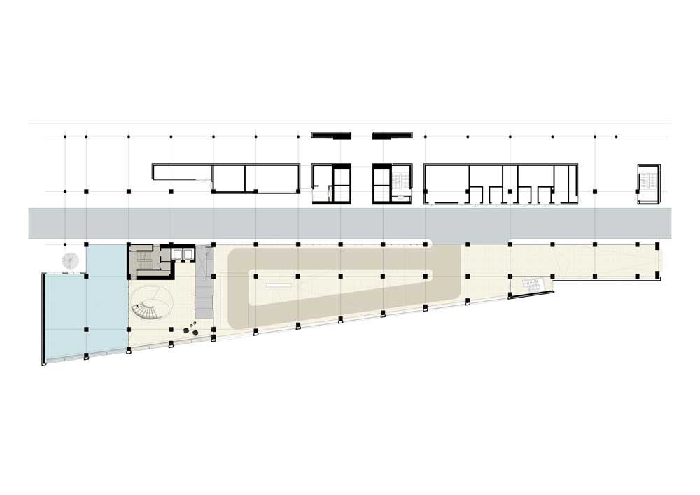 WW Office Building by Powerhouse Company - Lobby Drawing - Basement