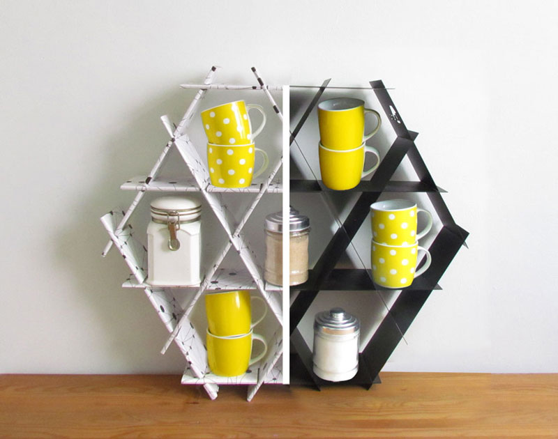 Eco-friendly Ruche Shelving unit by Ruthy Shafrir